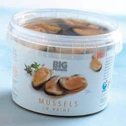 Chilean tub of mussels