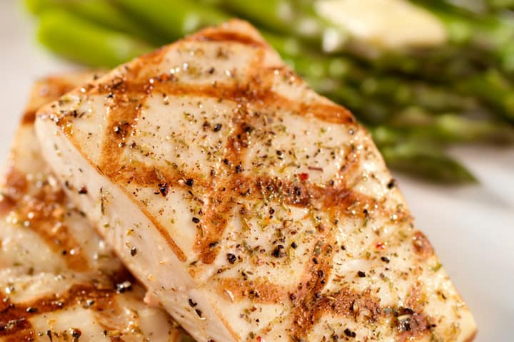 Pacific Halibut Steaks - 500g With Fresh Greens